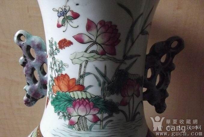 清代花鸟大花瓶图4