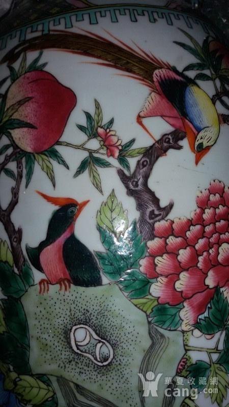 清代花鸟大花瓶图8
