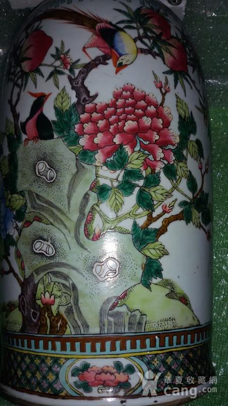 清代花鸟大花瓶图9