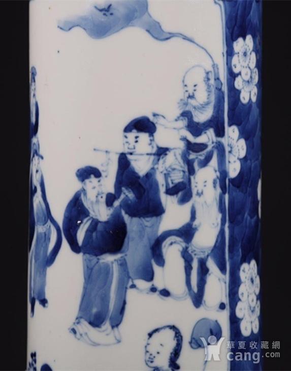 清朝八仙青花筒瓶图7