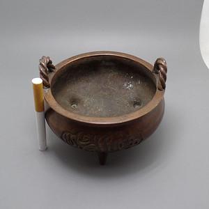 绳纹伊斯兰文紫铜香炉