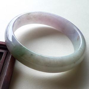 A货翡翠冰糯种手镯55.47g