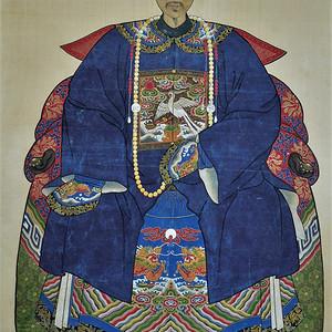 【欧美回流】设色绢本清代帝王大画像