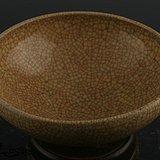 开片米黄釉碗