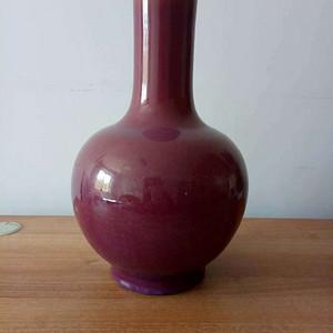 【联盟】清代红釉天球瓶
