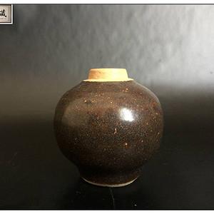 明 精品吉州窑黑釉文房小罐