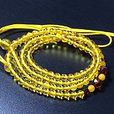 波罗的海 纯天然琥珀金珀项链 隔珠是血珀 吊坠配链