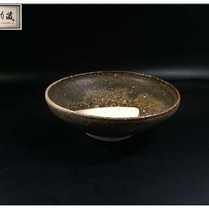 宋 吉州窑精品褐红釉茶盏