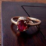18k金镶缅甸红宝石戒指(附证书)
