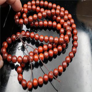 正宗印度小叶紫檀金星爆满108颗佛珠