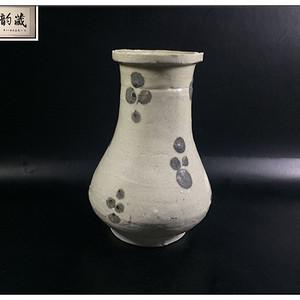 宋 精品吉州窑褐釉点彩青釉赏瓶