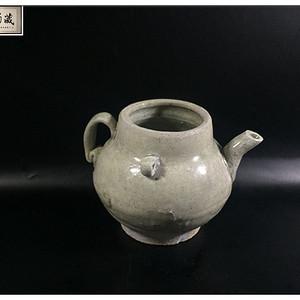 宋 精品青釉双系茶壶