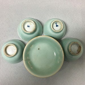 【联盟】清豆青釉盏1+小杯4
