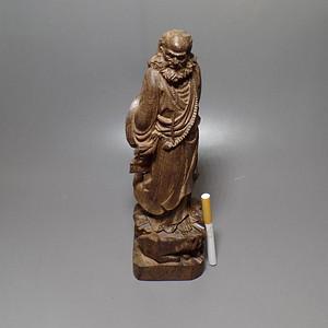 木雕达摩祖师摆件