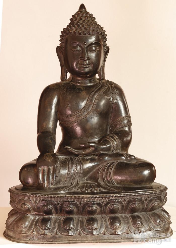 重33斤高47厘米  清中期释迦摩尼铜佛像图1