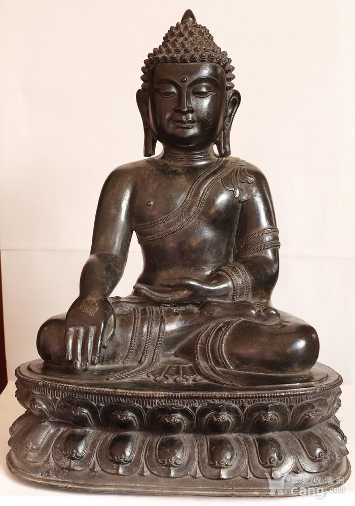重33斤高47厘米  清中期释迦摩尼铜佛像图2