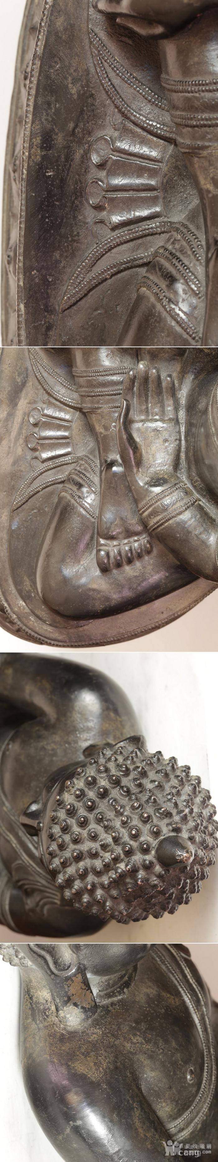 重33斤高47厘米  清中期释迦摩尼铜佛像图7