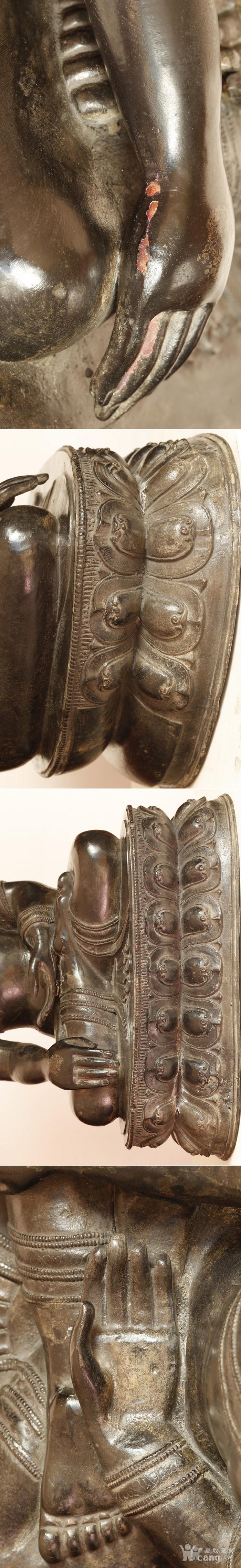 重33斤高47厘米  清中期释迦摩尼铜佛像图8