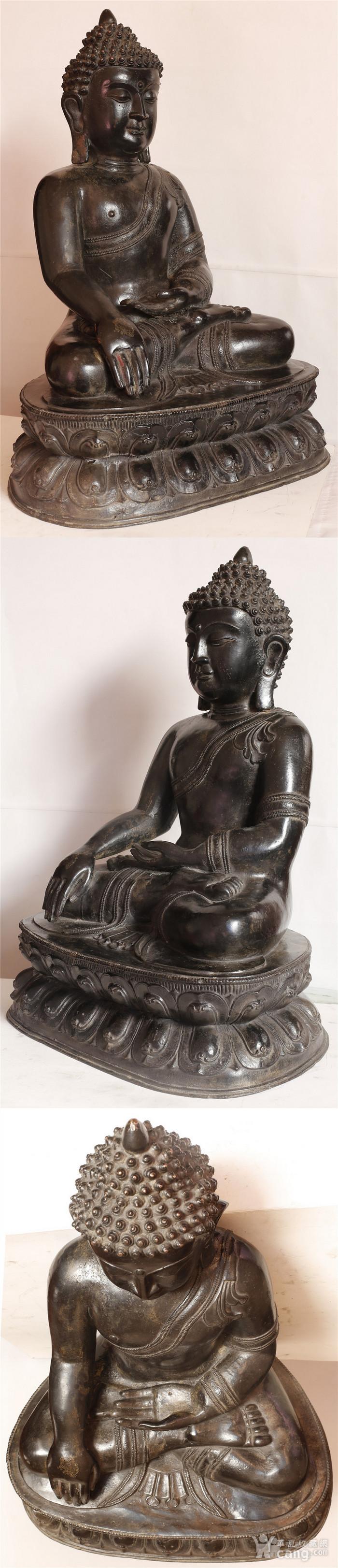 重33斤高47厘米  清中期释迦摩尼铜佛像图5