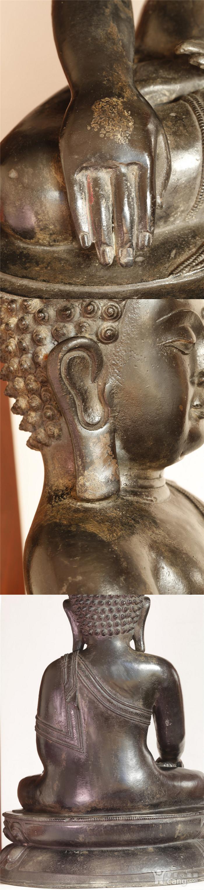 重33斤高47厘米  清中期释迦摩尼铜佛像图10