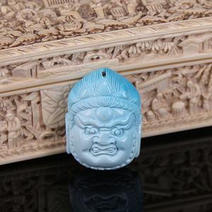 【收藏级精品】15.93g苏工雕高瓷原矿松石吊坠
