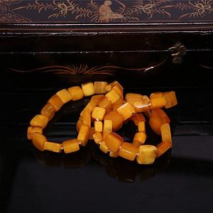 【收藏级精品】34.97g鸡油黄满蜜老项链