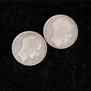 20 Francs 国外老银币两枚