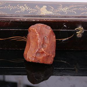 【小精品】43.96g鸡油黄老蜜蜡原皮原石