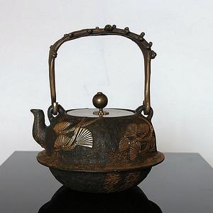 【精品】日本龙文堂款鉄壶