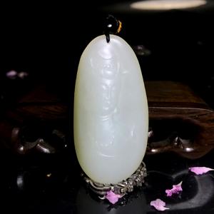 【精品】和田玉籽料观音挂件