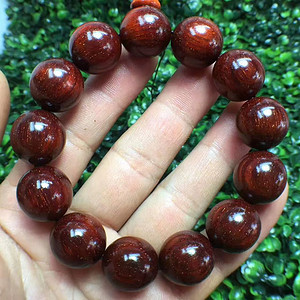 【保真】开门印度小叶紫檀一级品手珠