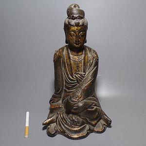 铜观音 鎏金 坐像