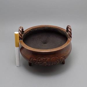 双绳耳 伊斯兰纹饰 紫铜香炉