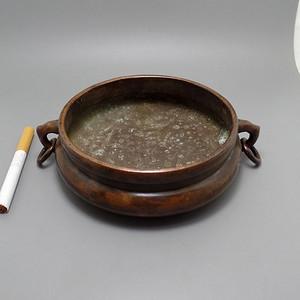 紫铜 活环 铜香炉