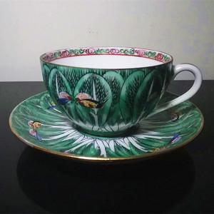 【联盟】清代绿地花蝶套杯