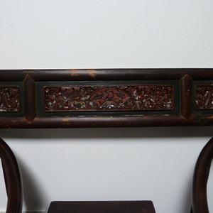 清代楠木花板