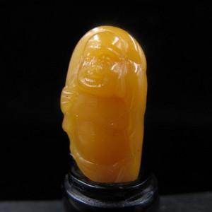 帝石--开门顶级寿山精品黄金黄田黄冻摆件(笑口常开)