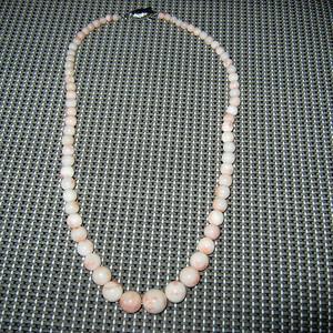 日本回流粉红珊瑚项链