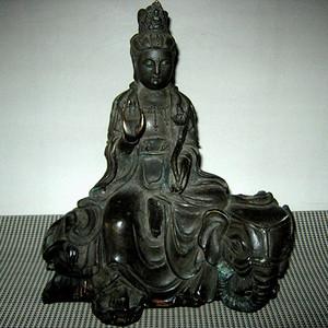 日本回流普贤菩萨铜像