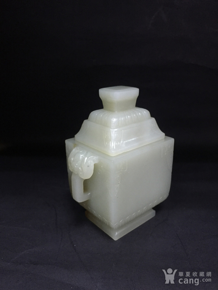 青白玉方形冠耳炉图3