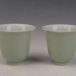 (钻石)欧洲回流豆青釉杯