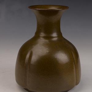 (钻石)欧洲回流茶叶末釉系带瓶