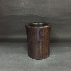 小木头素面笔筒