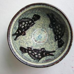 吉州窑3条鱼纹碗