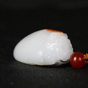 天然精品和田玉白玉羊脂玉级龙龟