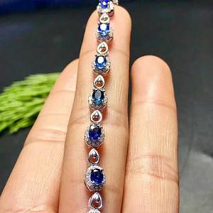 天然蓝宝石手链