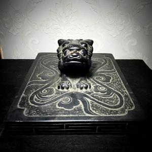 【精品收藏级*】 清代青石雕狮子满工压鞋