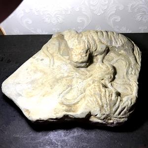 【收藏级重器压轴】元明时期狮子滚绣球双狮石板