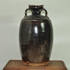 酱釉陶瓷瓶