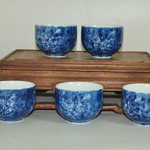 日本青瓷茶碗一套